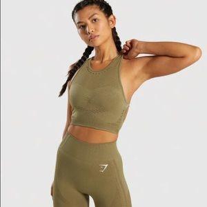 Gymshark Flawless Knit Khaki Medium